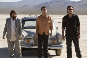 Zach Galifianakis, Ed Helms and Bradley Cooper in The Hangover