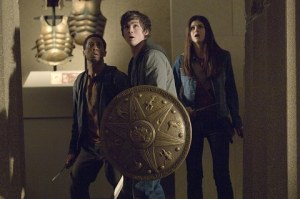 Brandon T. Jackson, Logan Lerman & Alexandra Daddario in Percy Jackson & The Olympians: The Lightning Thief