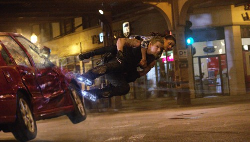Channing Tatum and Mila Kunis in Jupiter Ascending.