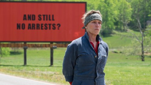 Frances McDormand - three-billboards-watching-video