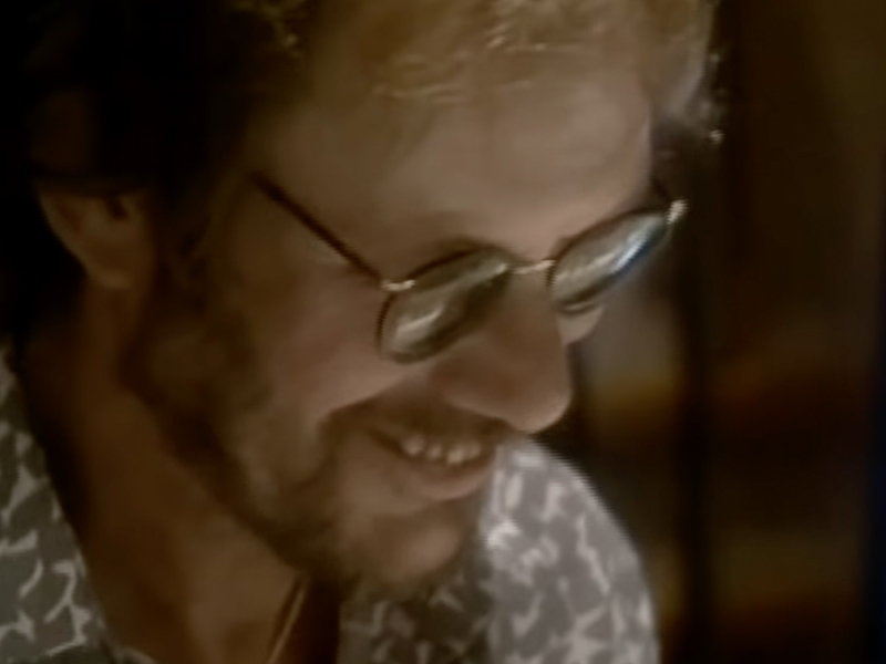 Warren Zevon in the video for Keep Me In Your Heart