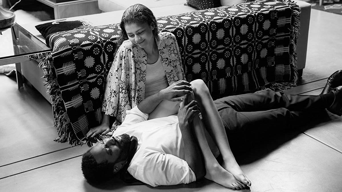 Zendaya and John David Washington in Malcolm & Marie, courtesy Netflix