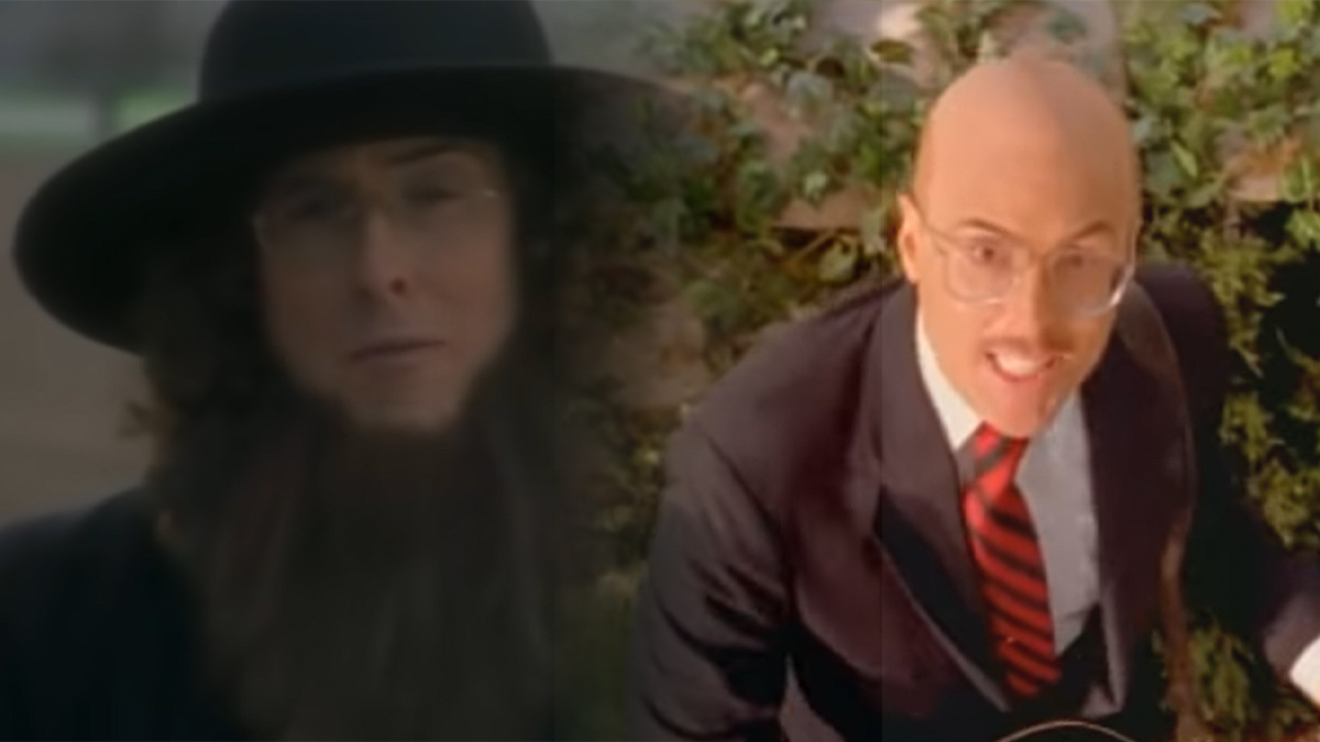 Weird Al in the videos for Amish Paradise and Gump, courtesy Al Yankovic on YouTube