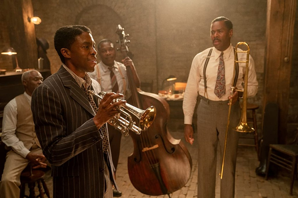 Chadwick Boseman in Ma Rainey's Black Bottom, courtesy Netflix