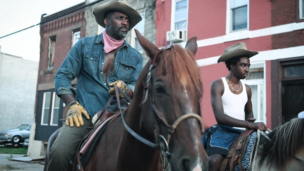 Idris Elba and Caleb McLaughlin in Concrete Cowboy, courtesy Netflix
