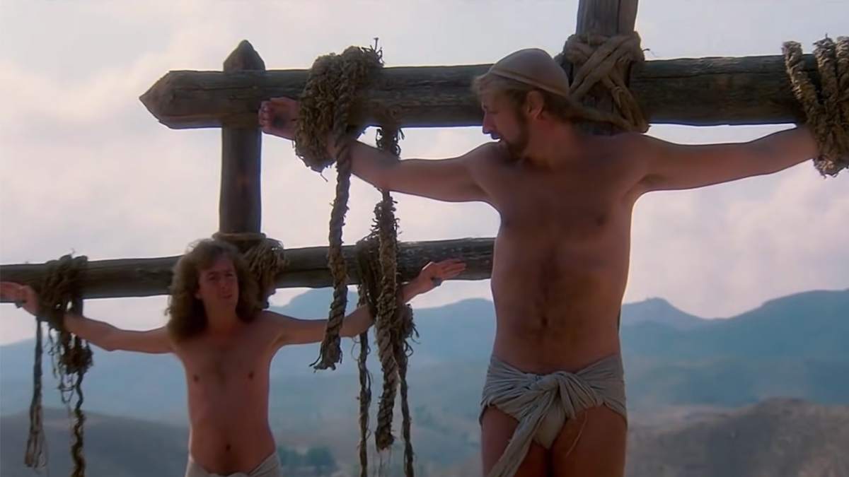 Eric Idle and Graham Chapman in Life of Brian, courtesy Python Pictures
