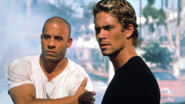 Vin Diesel and Paul Walker in The Fast and The Furious, courtesy Universal Pictures